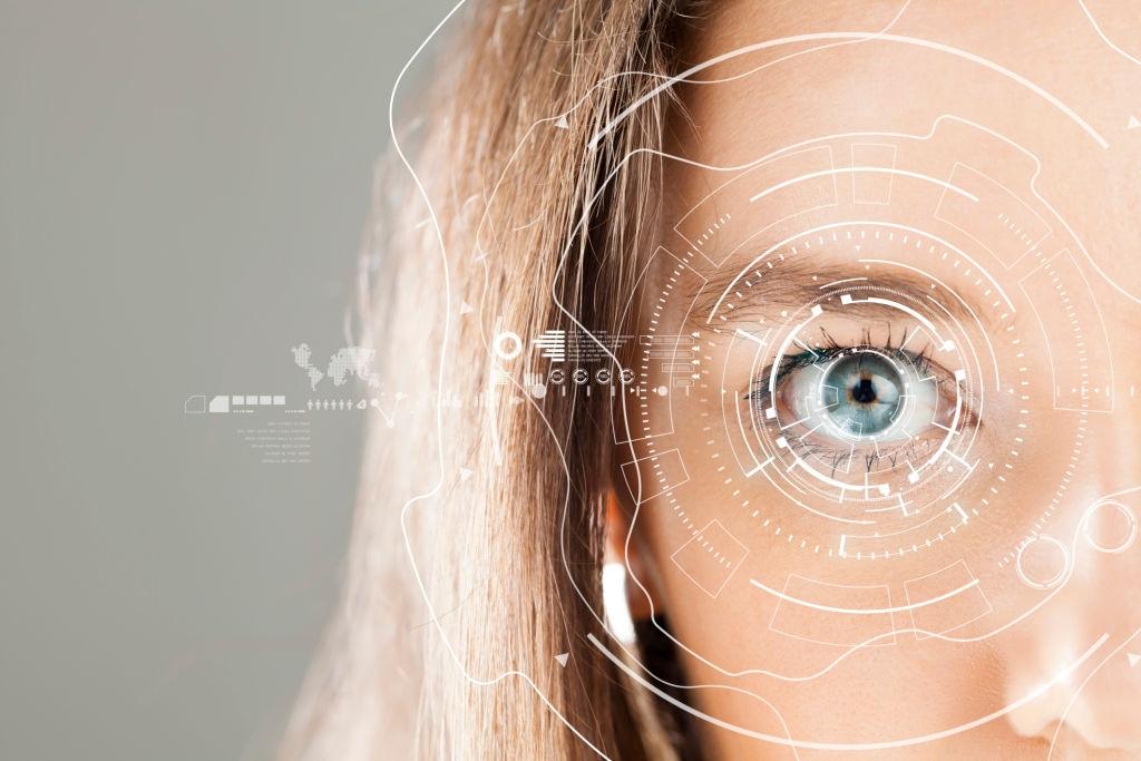 Technology closeup of an eye